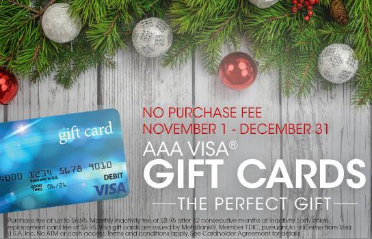 AAA Prepaid Gift Cards