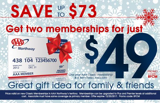 Give two new AAA memberships for $49