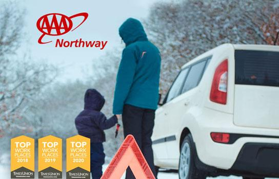 AAA Roadside Assistance towing assistance located in Schenectady, Saratoga Springs, Clifton Park, Amsterdam, Plattsburgh Vestal