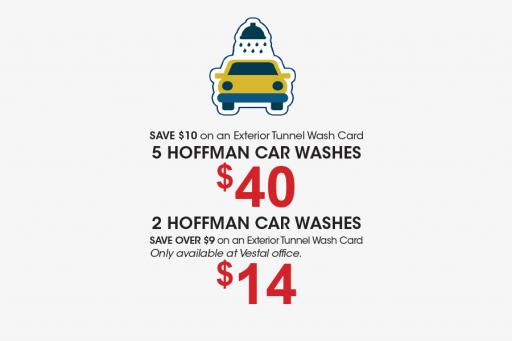 Discounted car wash cards