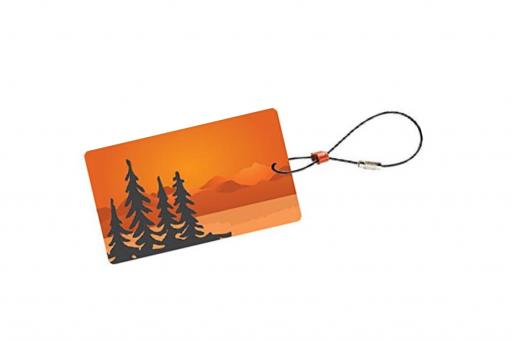 Travel Green Luggage Tags – Trees