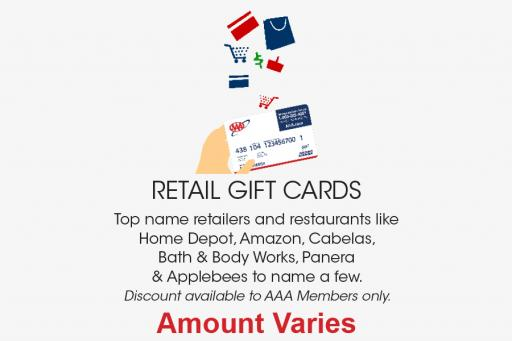 Discounted Retail gift cards