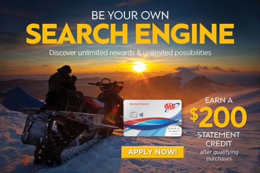 earn a $200 statement credit after qualifying purchases with the AAA Member Rewards Visa® card.*