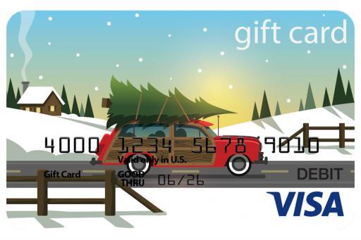 Fee free Visa gift card November 1- December 31, 2020