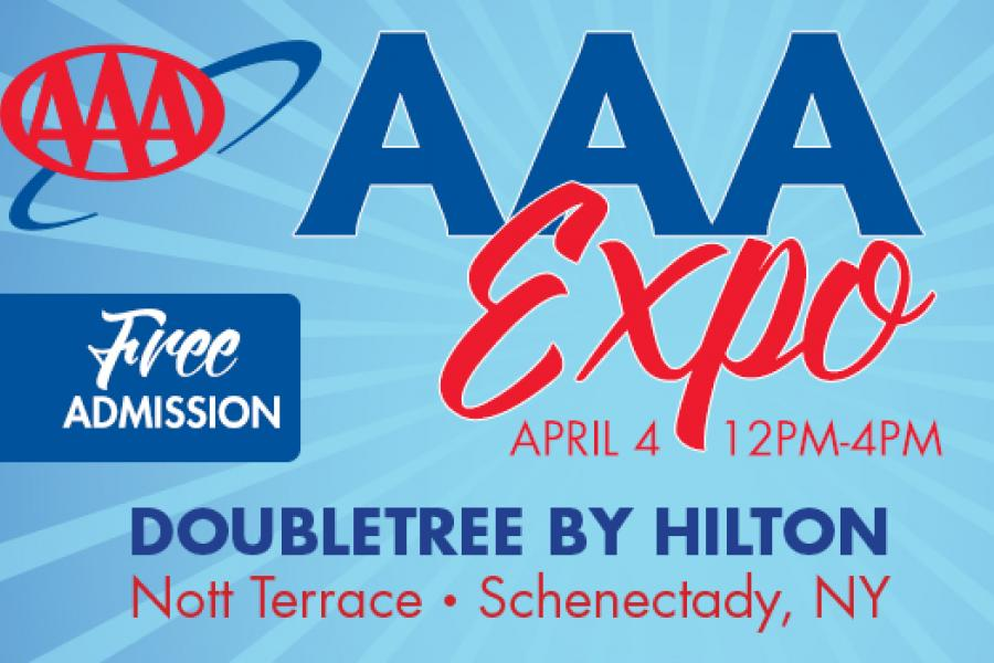 AAA Expo downtown Schenectady free battery checks free car seat safety checks free travel discussions April 4